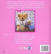 Titou L'Ourson - 4ème de couverture - Format classique