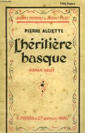 L'Heritiere Basque. Collection Jeunes Femmes Et Jeunes Filles N° 20. - Couverture - Format classique