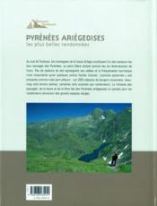 Pyrénées ariégeoises, les plus belles randonnées - 4ème de couverture - Format classique