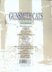 Gunsmith cats t.3 - 4ème de couverture - Format classique