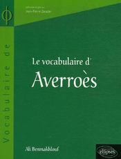 Le vocabulaire d'averroès - Intérieur - Format classique