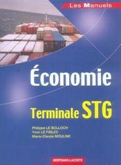 Économie ; terminale STG ; manuel de l'élève - Intérieur - Format classique