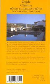 Guide des hotels et maisons d'hotes de charme au portugal 2001 - 4ème de couverture - Format classique