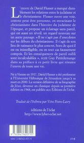 Les Sources Juives Du Christianisme Primitif ; Une Introduction - 4ème de couverture - Format classique