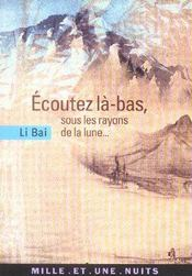 Ecoutez La-Bas, Sous Les Rayons De La Lune... - Intérieur - Format classique