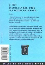 Ecoutez La-Bas, Sous Les Rayons De La Lune... - 4ème de couverture - Format classique
