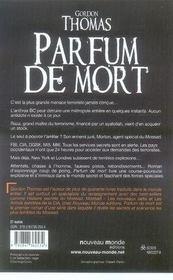 Parfum De Mort - 4ème de couverture - Format classique