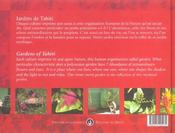 Jardins de tahiti - 4ème de couverture - Format classique