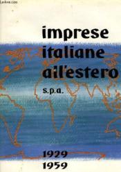 Imprese Italiane All'Estero 1929-1959 - Couverture - Format classique
