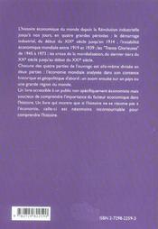 Precis D'Histoire Economique - 4ème de couverture - Format classique