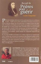 Recueil De Prieres Pour Guerir - 4ème de couverture - Format classique