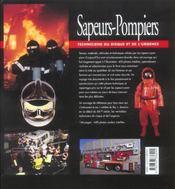Sapeurs-pompiers ; techniciens du risque et de l'urgence - 4ème de couverture - Format classique