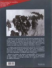 Stalingrad 1942 - 1943 - 4ème de couverture - Format classique