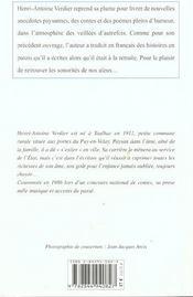 Memoires D'Un Papi Auvergnat - 4ème de couverture - Format classique