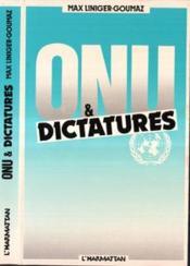 Onu Et Dictature - Couverture - Format classique