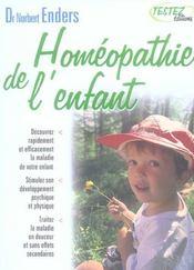 Homéopathie de l'enfant - Intérieur - Format classique