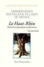 Haut-Rhin (Departement Du) - Couverture - Format classique
