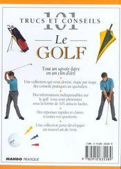 Golf - 4ème de couverture - Format classique