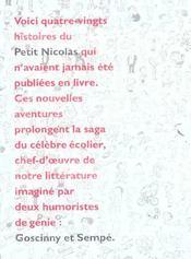 Histoires inédites du petit Nicolas ; coffret - 4ème de couverture - Format classique