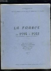 2 Tomes . La France De 1914 A 1945. - Couverture - Format classique