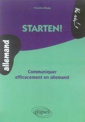 Starten ! communiquer efficacement en allemand - Intérieur - Format classique