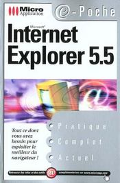 Pc Poche Internet Explorer 5.5 - Intérieur - Format classique