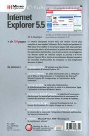 Pc Poche Internet Explorer 5.5 - 4ème de couverture - Format classique