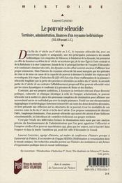 Pouvoir Seleucide - 4ème de couverture - Format classique