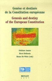 Genèse et destinée de la constitution européenne - Intérieur - Format classique