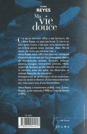 Ma Vie Douce - 4ème de couverture - Format classique