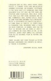 La Vie D'Artiste - 4ème de couverture - Format classique