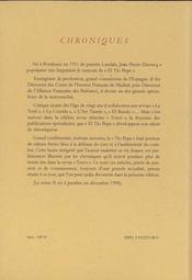 Chroniques El Tio Pepe t.2 - 4ème de couverture - Format classique
