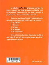 Droit Administratif Tout Le Droit - 4ème de couverture - Format classique
