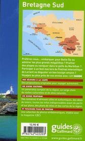 Geoguide ; Bretagne Sud ; Nantes, Vannes, Quimper (Edition 2008-2009) - 4ème de couverture - Format classique