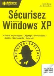 Securisez windows xp - Couverture - Format classique
