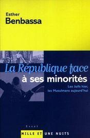 La republique face a ses minorites - Intérieur - Format classique