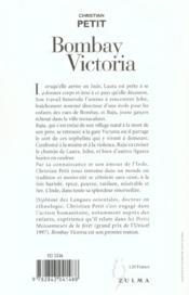 Bombay Victoria - 4ème de couverture - Format classique
