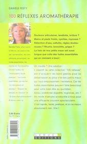 100 Reflexes Aromatherapie - 4ème de couverture - Format classique