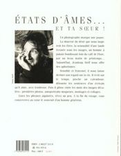 Etats D'Ame ; Et Ta Soeur - 4ème de couverture - Format classique