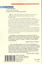 Coriolano - 4ème de couverture - Format classique