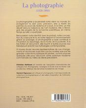 La Photographie ; 1839-1980 - 4ème de couverture - Format classique