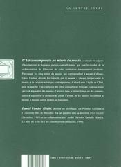 Art Contemporain Au Miroir Du Musee (L') - 4ème de couverture - Format classique