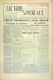 Action Syndicale (L') N°3 du 01/03/1959 - Couverture - Format classique