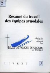 Livret 5 - Resume Du Travail Des Equipes Synodales - Couverture - Format classique
