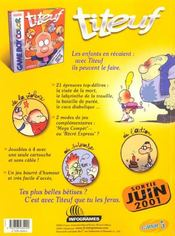 Méga tchô t.2 - 4ème de couverture - Format classique