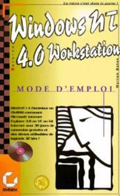 Windows Nt 4.0 Mode D'Emploi - Couverture - Format classique