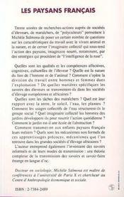 Les Paysans Francais - 4ème de couverture - Format classique