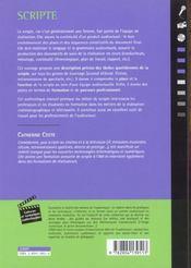 Scripte - 4ème de couverture - Format classique
