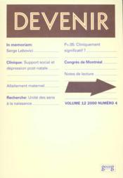 Devenir T.12 N.4-2000 - Couverture - Format classique