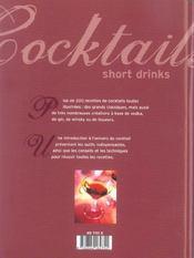 Cocktails Short Drinks - 4ème de couverture - Format classique